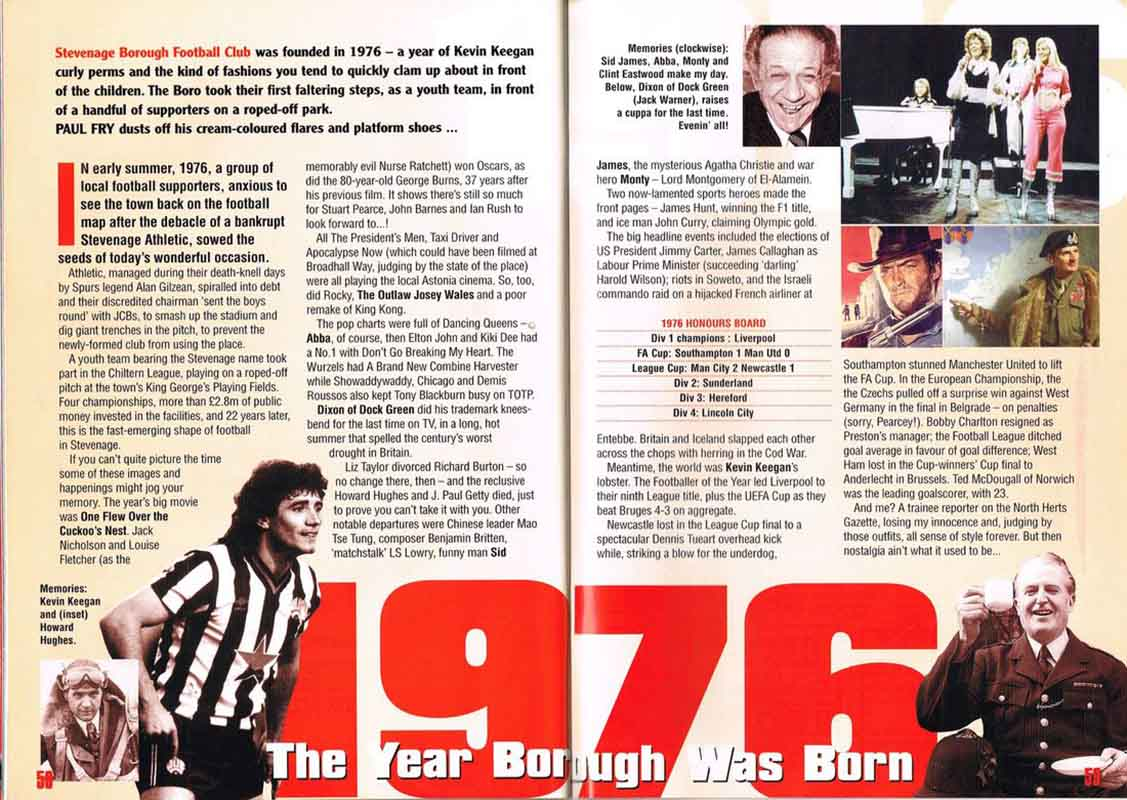 Paul Fry's original article on 1976 – the year it all started for Boro'