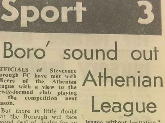 Boro' Sound Out Athenian League: Blast From The Past