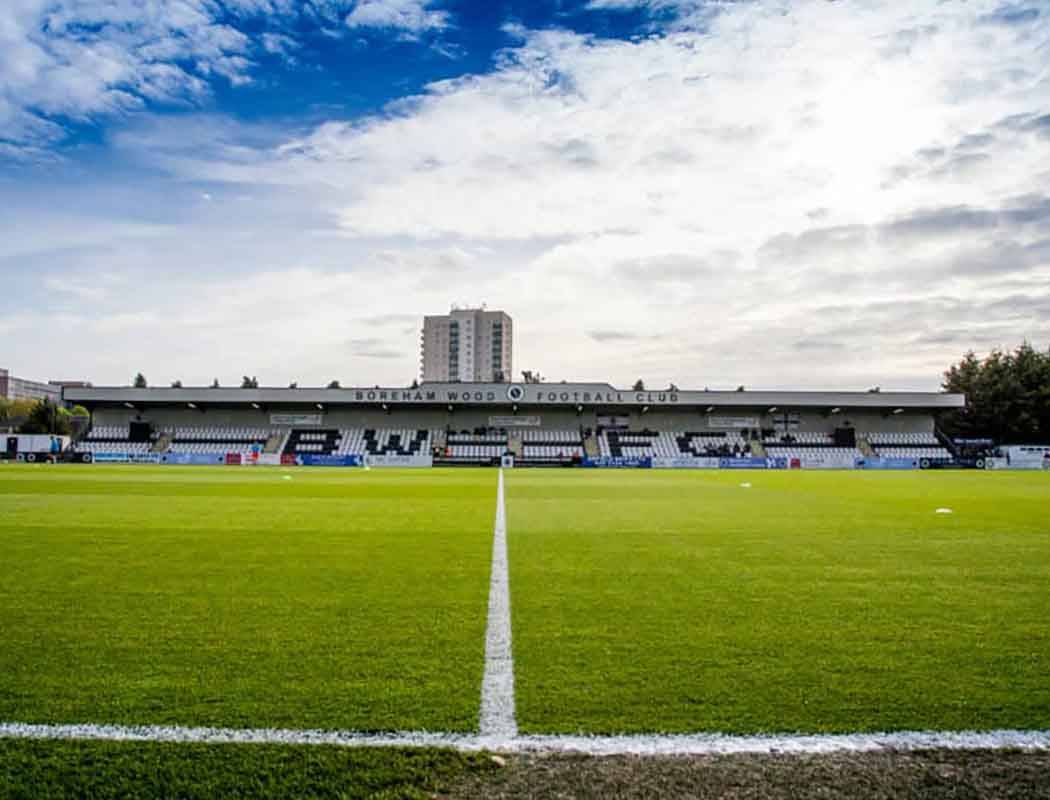 From up here in North Herts, it's easy to look down on our southern county counterparts. And Boreham Wood are one of 'em...