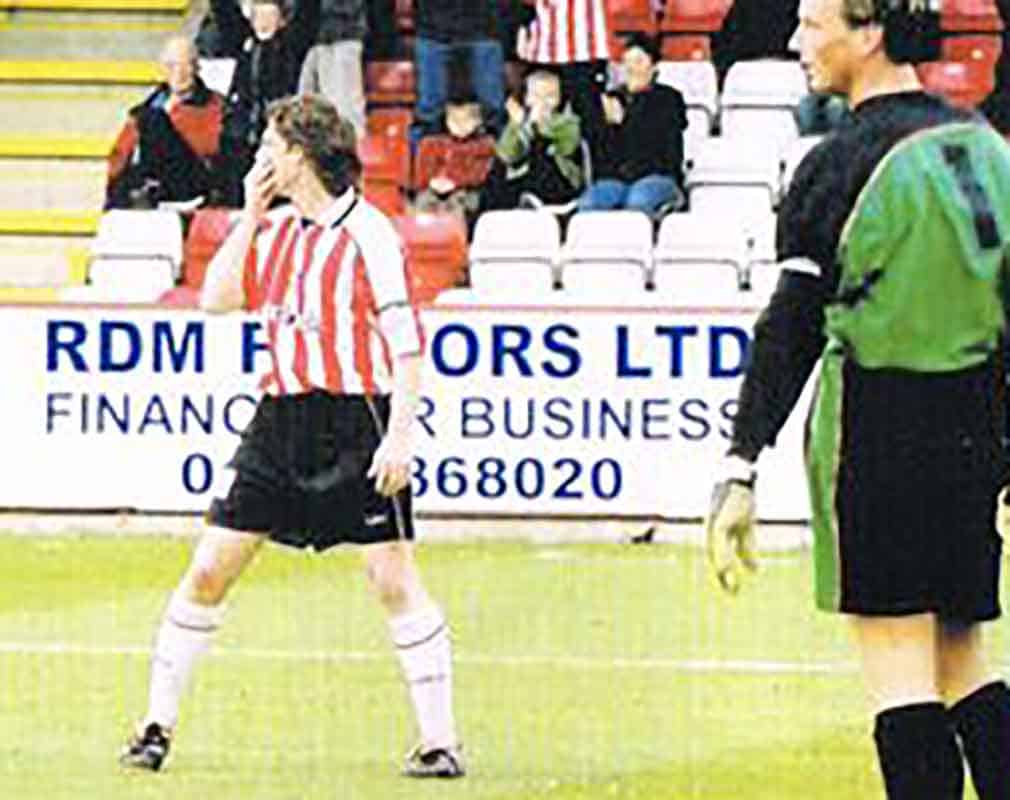 One of Clarke's significant traits in his time at Broadhall Way was the ability to score goals that would make seasoned strikers blush