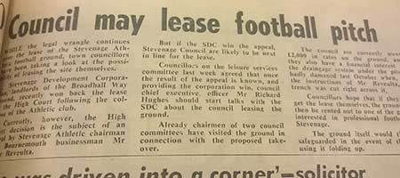 Council May Lease Football Pitch: Blast From The Past