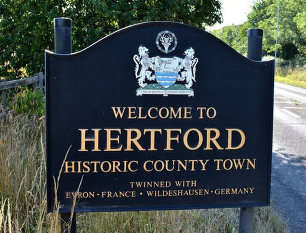 Our county town ain't all that much of a footballing force. But we still had our battles with Hertford Town in our time...
