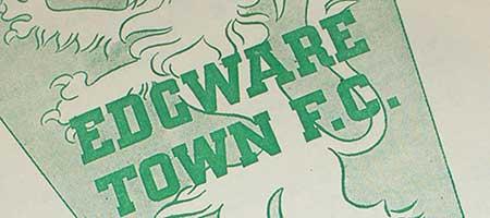 Edgware Town 1958-9 Programme