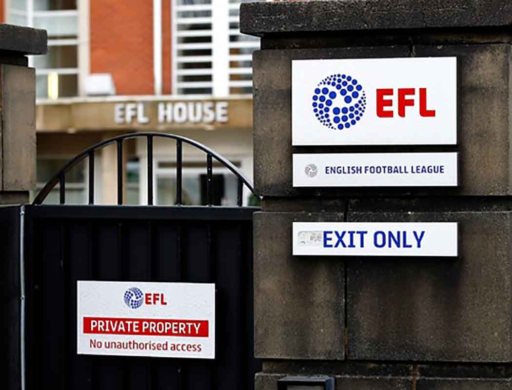 Do you get the feeling we're getting hung out to dry by the EFL and National League? We're not so much down – but more left hanging in limbo...