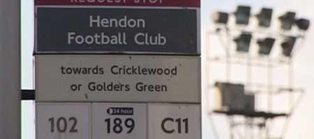 Hendon Football Club - Bus Stop