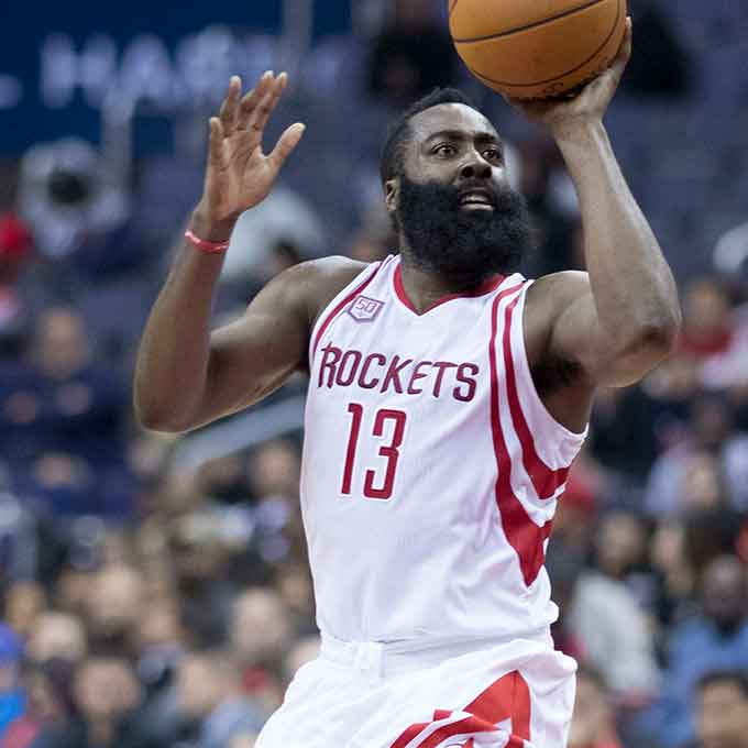 The bearded basketball guru and Houston Rockets superstar scooped the NBA MVP basketball award