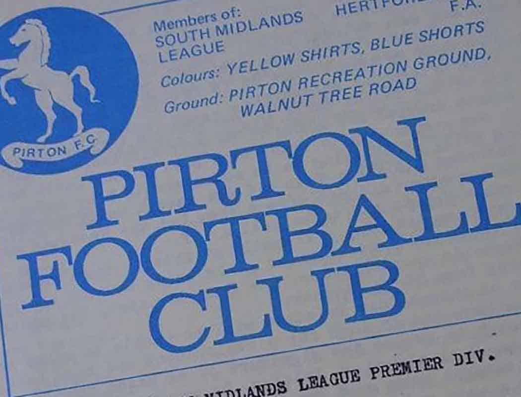 It shows you how football is so engrained in the lifeblood when even small villages have their own football team to speak of – such as Pirton