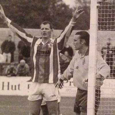 A true Boro' stalwart if ever there was one, defensive rock Richard Nugent saw action at Broadhall Way in three different spells with the club
