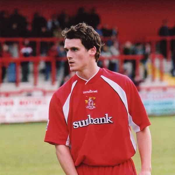 Jamie Cook joined Boro' in February 2003 from Boston United; immediately making a positive impact at Broadhall Way down our left hand side