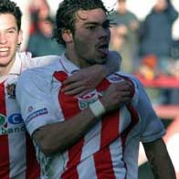 Much about Anthony Elding goes without saying, but we'll say it anyway; another striker to take Boro' by storm after joining from Boston United in 2003