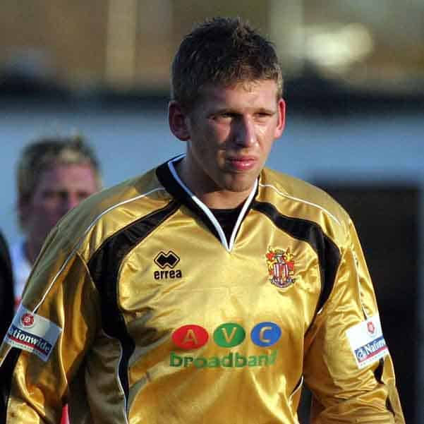 Rob Burch is the keeper drafted in on loan from Tottenham Hotspur at the start of the 2004-5 season; injuries taking their toll on our squad