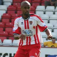 After falling out of favour at Exeter City during the 2005-6 season, Brazilian defender Santos Gaia moved to us as part of Mark Stimson's rebuilding efforts