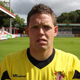 Ex-England youth goalkeeper Ashley Bayes joined Stevenage Borough in summer 2008 – mainly to replace the outbound Alan Julian