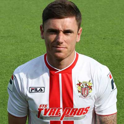Huyton-born midfielder Greg Tansey was among a raft of new arrivals to join Stevenage during summer 2012; Boro' building for life in League Two