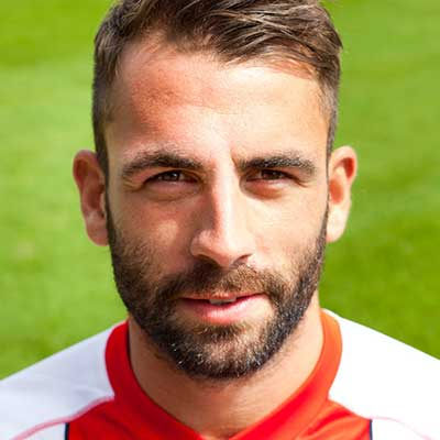 A tenacious midfielder, Graham Westley signed Simon Walton to add a robust dimension to our midfield ahead of the 2014-5 League Two season