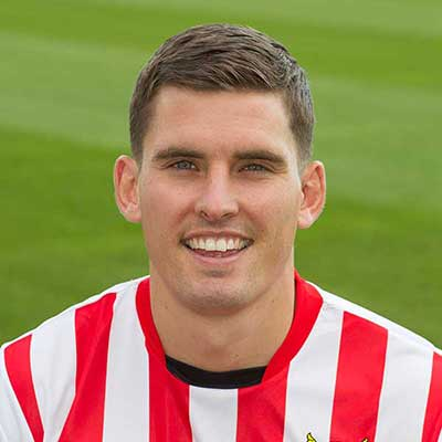 David McAllister is the tenacious midfielder drafted in by manager Graham Westley on loan in October 2014 for an initial one-month term