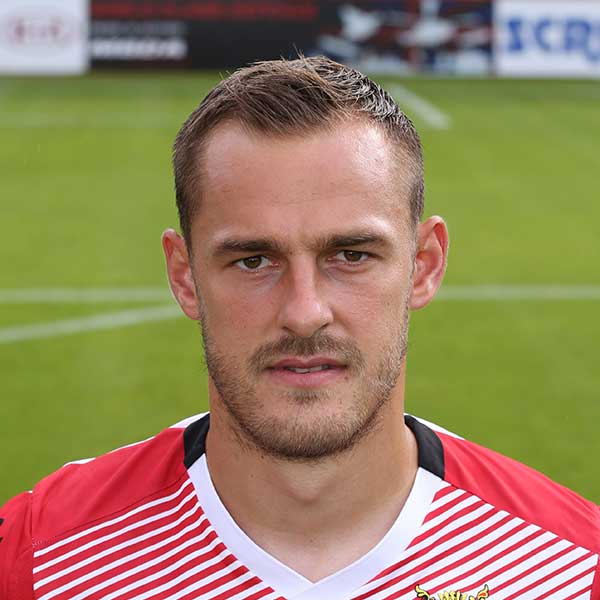 In a bid to stem the number of goals that Boro' were letting in during the 2015-6 season, manager Teddy Sheringham raided neighbours Luton Town to secure the services of centre half Luke Wilkinson on a permanent contract