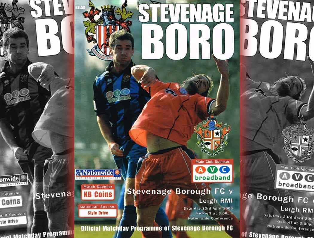 You can't beat a matchday programme. Behind every one is a unique tale of our exploits. From the 2004-5 campaign, this one is no exception.