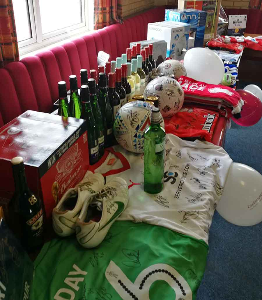 There was a bountiful selection of prizes at the Mitchell Cole Memorial Tournament 2018 raffle!