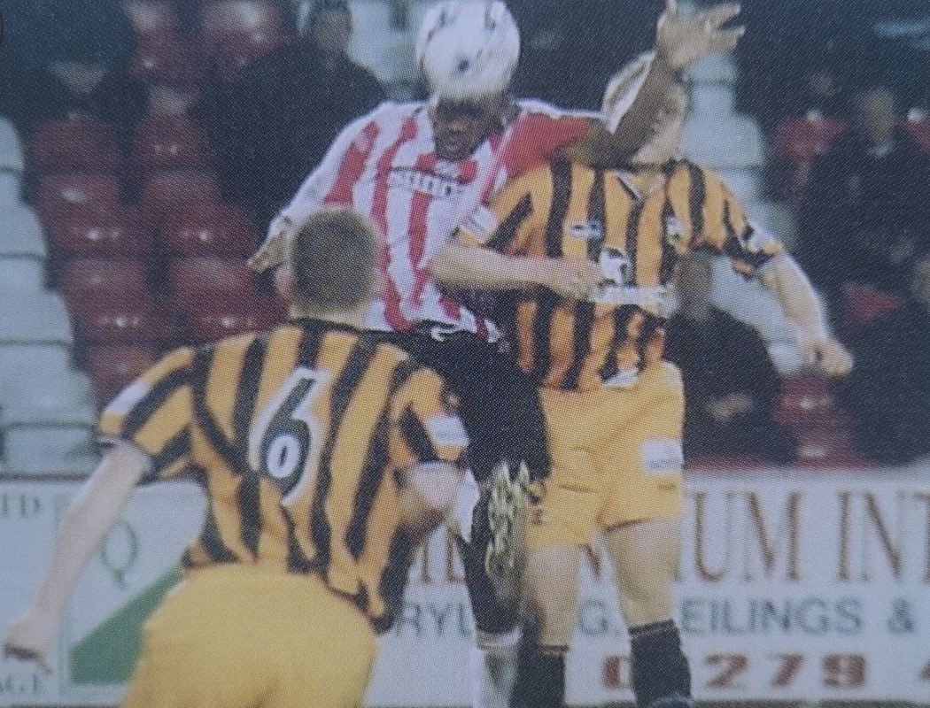 But if there's one game that stands out above most others for Siggy, it was indoors in the return match against the Bees in the 2001-2 season