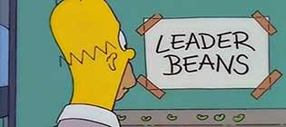Homer Simpson - Leader Beans