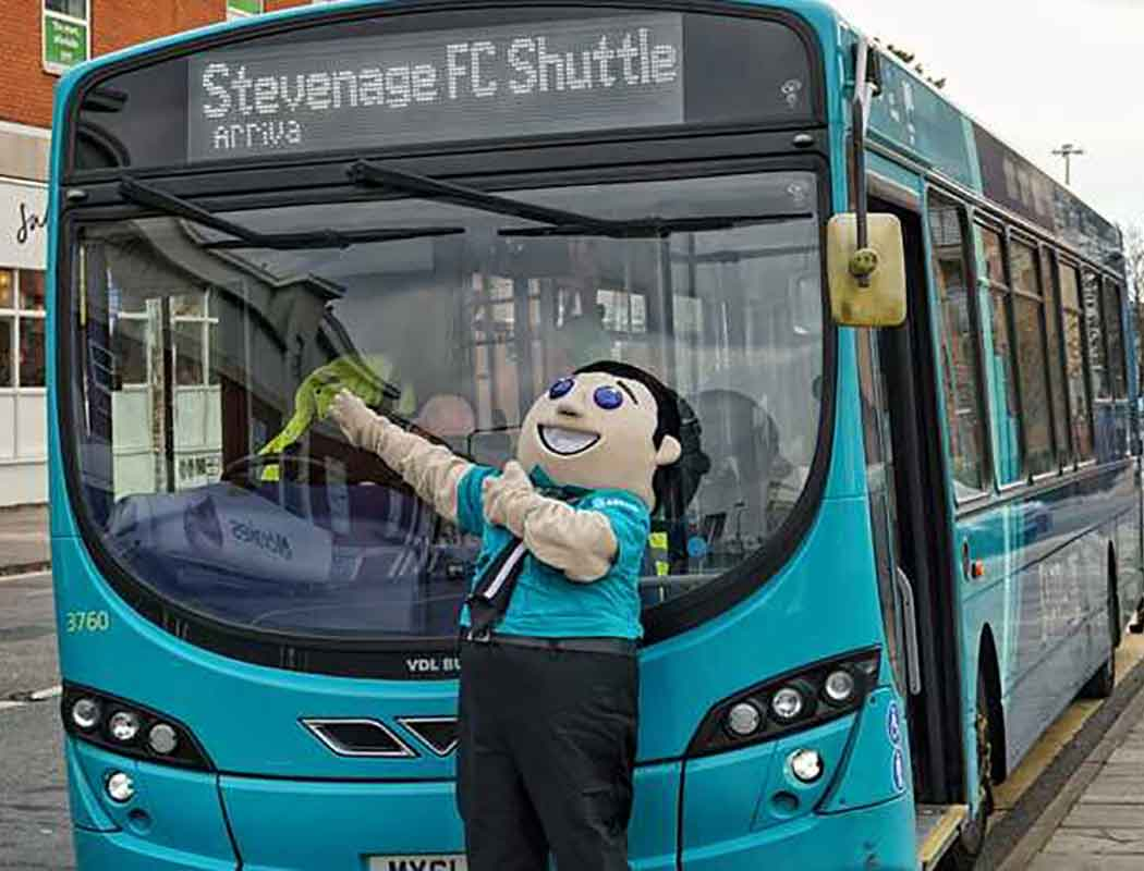 A special bus makes it easier to get to Stevenage FC by bus