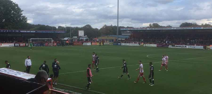 Stevenage led Port Vale 1-0 at the break of their League Two encounter...