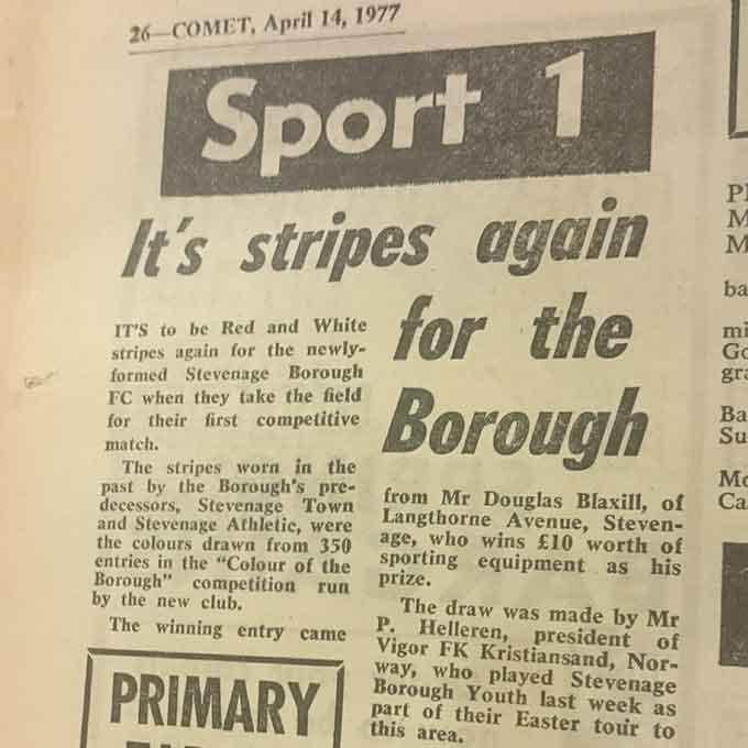 It's Stripes Again For The Borough: Blast From The Past