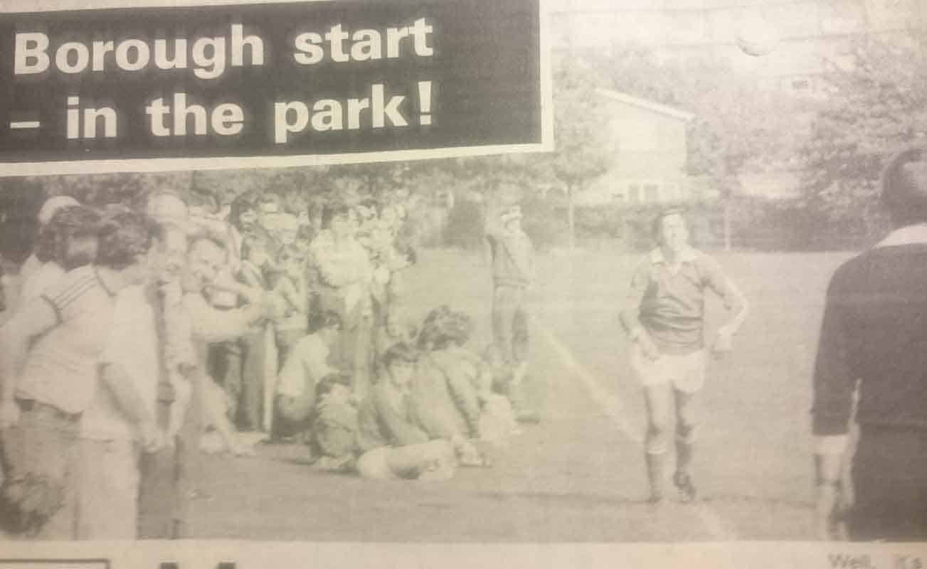 In 1976, Stevenage Borough was born; starting life on King George V Playing Fields