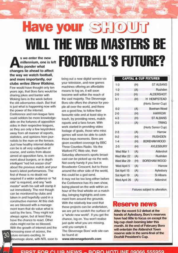 Will The Webmasters Be Football's Future? (Full)